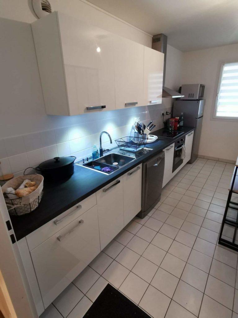 aménagement d'une cuisine avec verrière